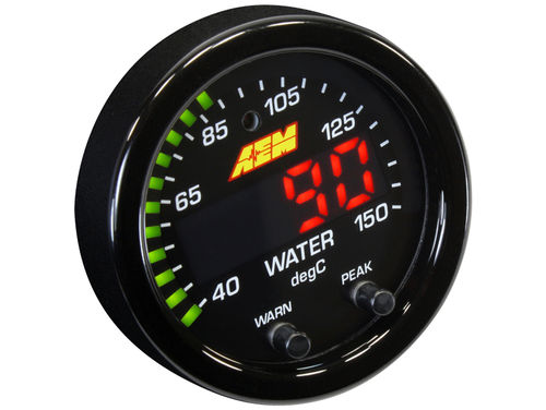 AEM X-Series 300F/150°C Water/Trans/Oil Temp Gauge